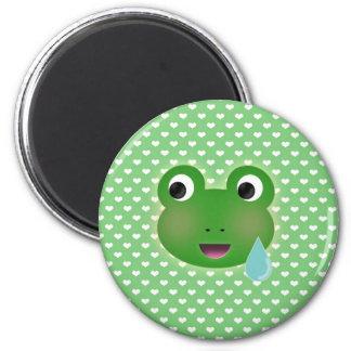 Frog Kawaii 6 Cm Round Magnet
