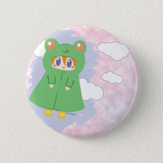 Frog Kawaii Rainy Day Frog 6 Cm Round Badge