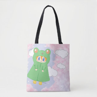 Frog Kawaii Rainy Day Frog Tote Bag