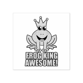 Frog King Awesome Rubber Stamp