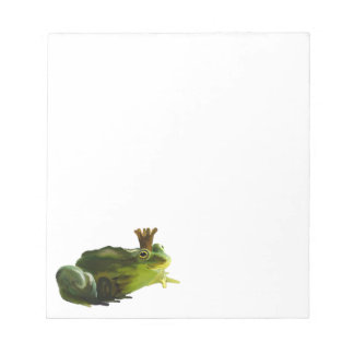 Frog king notepad