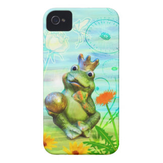 Frog king with flowers iPhone covering iPhone 4 Case-Mate Case