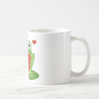 Frog King with Heart Coffee Mug