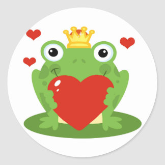 Frog King with Heart Stickers