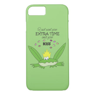Frog Kiss Cute Prince Love Song Words Green Funny iPhone 8/7 Case