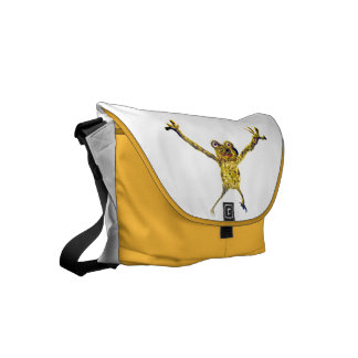 Frog Leaping Funny Animal Art Messenger Bag