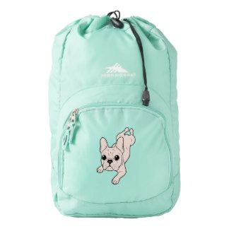 Frog Leg Cream French Bulldog Backpack