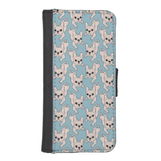 Frog Leg Cream French Bulldog iPhone SE/5/5s Wallet Case