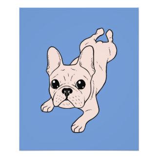 Frog Leg Cream French Bulldog Photo Print