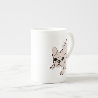Frog Leg Cream French Bulldog Tea Cup