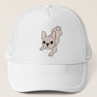Frog Leg Cream French Bulldog Trucker Hat