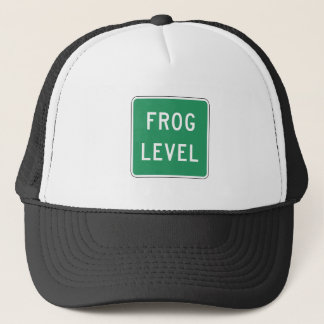 Frog Level, Road Marker, Virginia, USA Trucker Hat