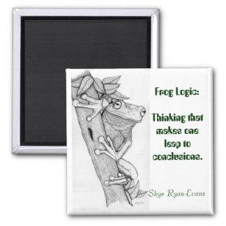 """""""FROG LOGIC"""" Fun Frog Magnet"""