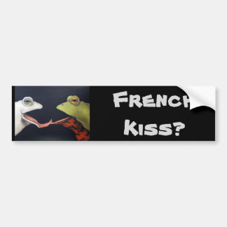 Frog Love -- The French Kiss Bumper Sticker