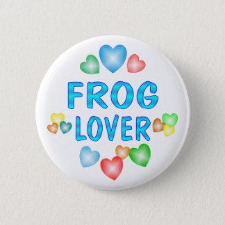 FROG LOVER 6 CM ROUND BADGE