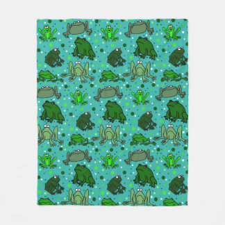 Frog Lover Fleece Blanket