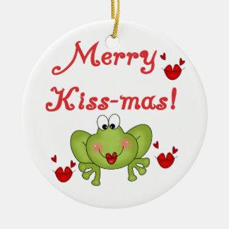 Frog Merry Kiss-mas Ornament