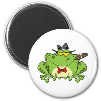 Frog Mobster 6 Cm Round Magnet