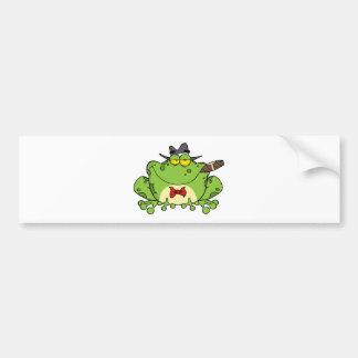 Frog Mobster Bumper Sticker