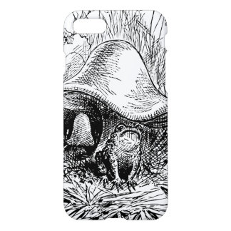 Frog, Mushrooms and Frogs Retro Toad Black & White iPhone 7 Case
