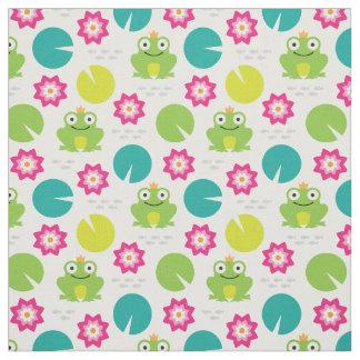 Frog & Nenuphar Seamless Pattern Fabric