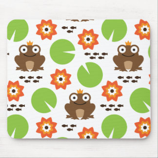 Frog & Nenuphar Seamless Pattern Mouse Pad