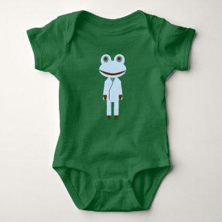 Frog of teacher generation baby bodysuit