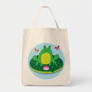 Frog on a lily pad bag