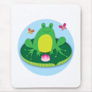 Frog on a lily pad mousepad