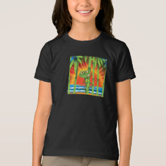 Frog On Bamboo Girls T-Shirt