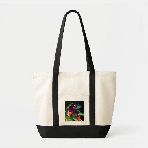 frog on leaf bag