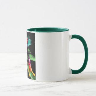 frog on leaf mug