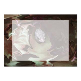 Frog on leaf purplish abstract blur personalized invitation