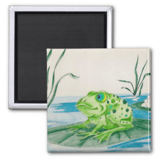 Frog on Lily pad Magnet