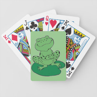 Frog on Lilypad Bicycle Playing Cards
