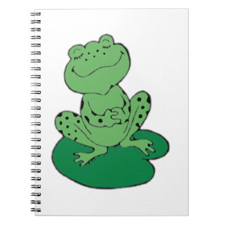 Frog on Lilypad Spiral Note Book
