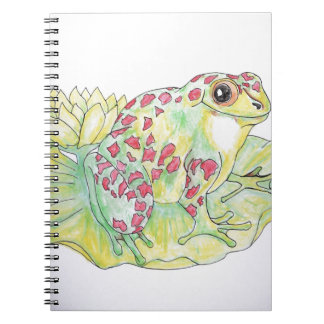 Frog on Lotus leaf Notebook