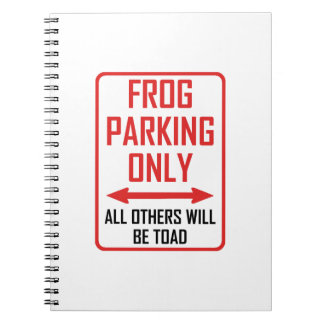 Frog Parking All Others Toad Notebook