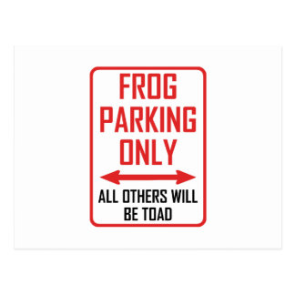 Frog Parking All Others Toad Postcard