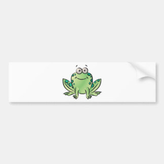 Frog pattern bumper stickers