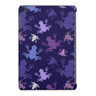 Frog Pattern; Purple, Violet, Lavender, Plum, Gray iPad Mini Retina Case