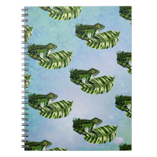 FROG PATTERN SPIRAL NOTE BOOKS