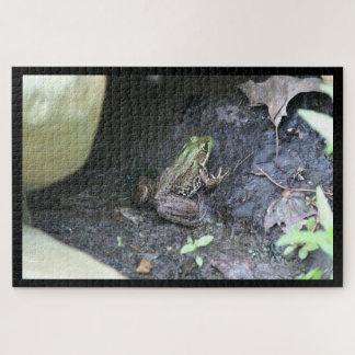 Frog, Photo Puzzle. Jigsaw Puzzle