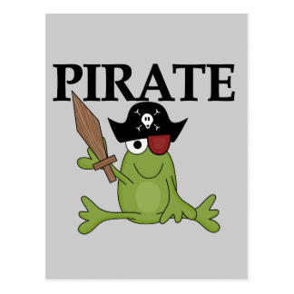 Frog Pirate With Sword Tshirts and Gifts Postcard