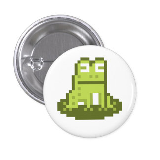 Frog Pixel Art Button