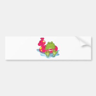 Frog Pool Time Bumper Stickers