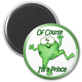Frog Prince 6 Cm Round Magnet