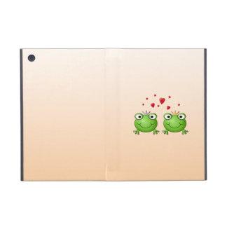 Frog Prince and Frog Princess, with hearts. iPad Mini Covers