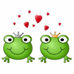 Frog Prince and Frog Princess, with hearts. Cut Out