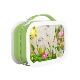frog prince and princess lunchbox
